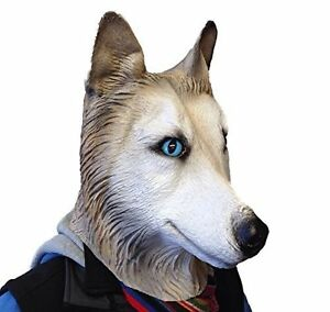 Siberian-Husky-Mascara-Lobo-Perro-Latex-Animales-disfraces-Canino-Halloween