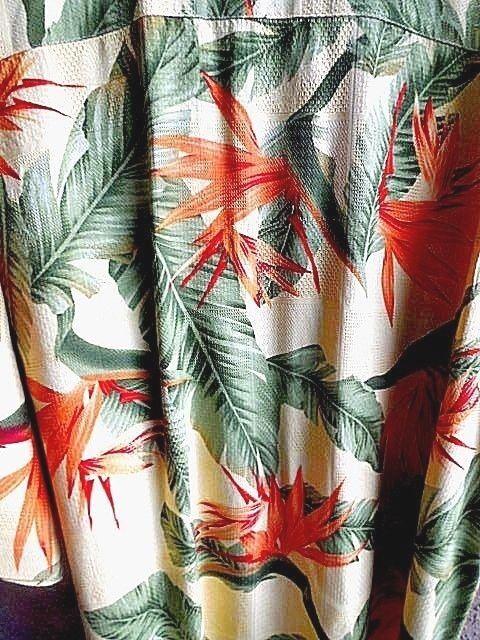 Jamaica Jaxx Hawaiian Shirt  XXL Button Down Short Sleeve 100% Silk Copyrighted