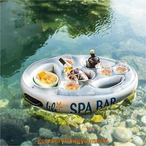 Image Is Loading Side Tray Floating Table Spa Bar Inflatable Hot