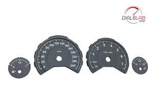M Style 3D BMW 260km/h F3X - Dials from mph to km/h Gauges