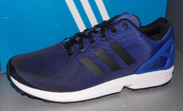 MENS ADIDAS ZX FLUX in colors BLACK FTW WHITE BO BLUE SIZE 13