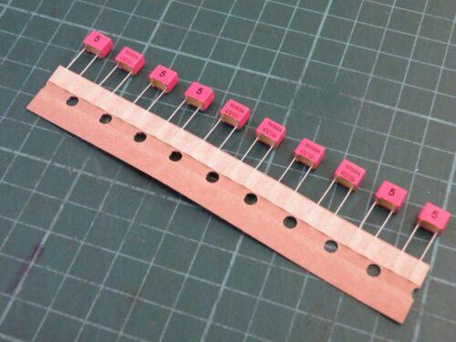 10 Pcs 470pF 100v 5/% 5mm Box Polyester Capacitor Wima  CW22