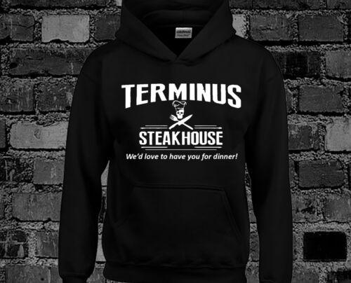 Terminus Steakhouse Hoody Hoodie Walking Dead Funny Walking Dead Zombie Rick Top