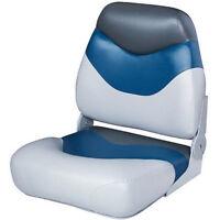 Grey Black Navy Boat Seat Vinyl Cover Padded Cushion Mountable Fishing Chair