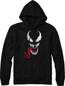 Top Face Tongue Hoodie Spiderman Design Inspired Venom cSqEWwBY
