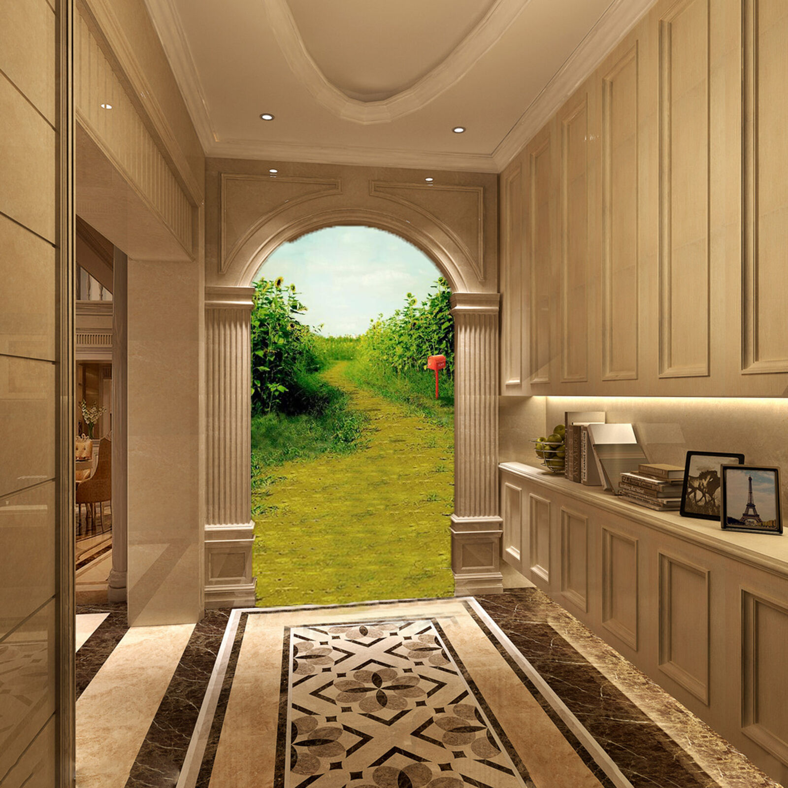 3D Field path 3423 Wall Paper Wall Print Decal Wall Deco Indoor Wall Murals