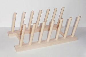 Tellerständer Für 6 Teller Buche Brettchenständer Holz Brettständer