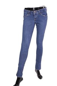 GJ8-143-H-amp-M-Sqin-Damen-Jeans-W27-L32-blau-Stretch-low-waist-skinny-fit