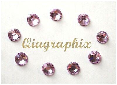 2 x 1440 Pcs DMC Iron On Hotfix Crystal Rhinestones Light Pink SS10, SS10LP