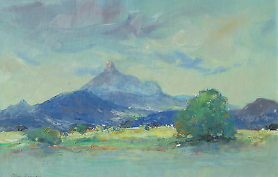 "ALLAN HANSEN - LARGE ORIGINAL OIL - "" Mt WARNING - N.S.W. "" - SIGNED, FRAMED"