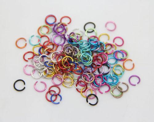 Wholesale 10000Pcs Jump Rings Open Connectors pour À faire soi-même Bijoux Accessoires 6 mm