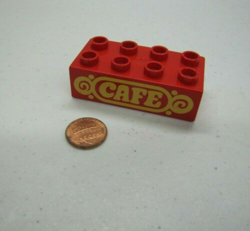 Lego Duplo RED CAFE SIGN for Town Restaurant Replacement Part Piece
