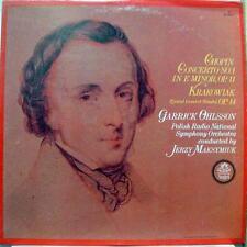 GARRICK OHLSSON & JERZY MAKSYMIUK chopin concerto no 1 LP Mint- RL-32092 Vinyl