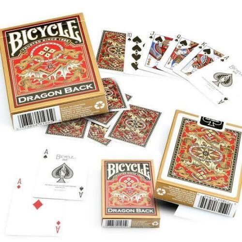 Bicycle Gold Dragon Back Playing Cards Decks Standard Index Poker Casino Magic