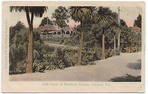 1910 Postcard Club House Piedmont Springs Oakland CA