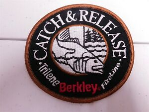 BERKLEY TRILENE FIRELINE catch release Bass Fishing Tournament Patch Vintage