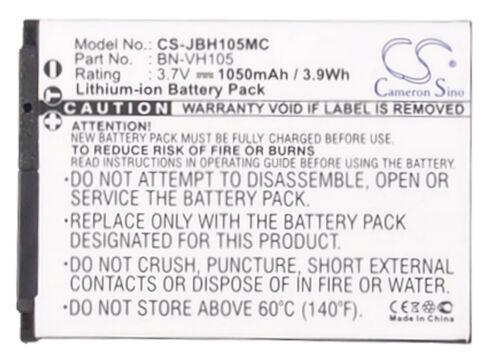 Reino Unido batería Para Jvc Adixxion Adixxion acción bn-vh105 bn-vh105us 3.7 v Rohs