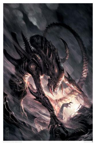 Alien Attack Epic Dynamic Dark Horse Comic Cover Artwork Lithograph Sci-Fi Art