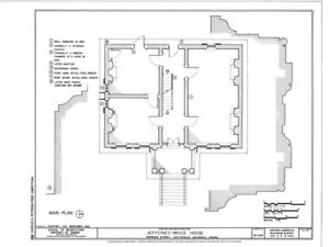 Virginia Palladian house plans, detailed blueprints, Traditional ...