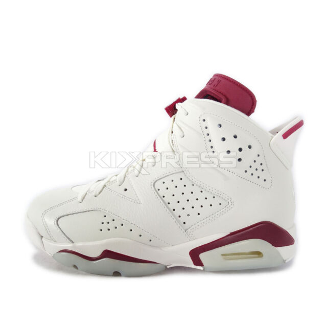 Nike Air Jordan 6 Retro  384664-116  Basketball Off White New Maroon 746d0276e