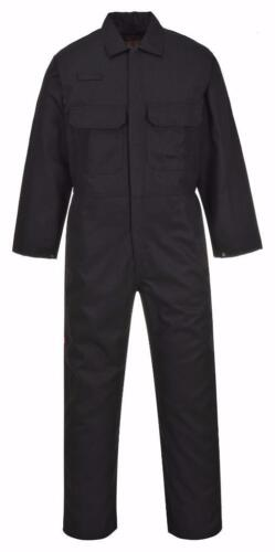 Portwest Bizweld Flame Resistant Coverall Black 3X-Large UBIZ1