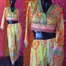 Vintage 70s Eloise Curtis Jumpsuit Mod Party Metallic Psychedelic Bell Bottoms