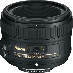 Nikon-AF-S-NIKKOR-50mm-f-1-8G-con-2-anos-garantia-Motor-Silent-Wave-Objetivo