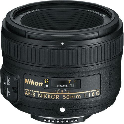 Nikon AF-S NIKKOR 50mm f/1.8G con 2 años garantía Motor Silent Wave-Objetivo