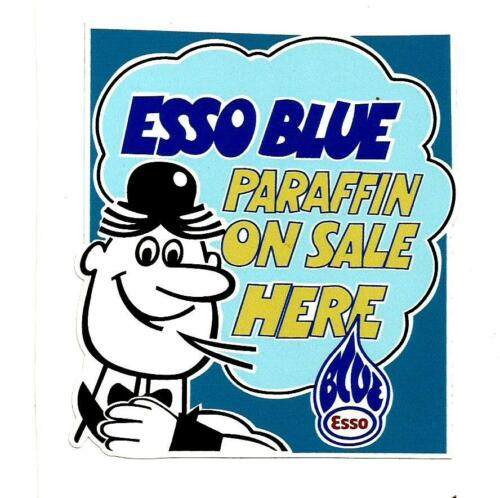 """/""""ESSO BLUE ON SALE HERE/"""" PROMO VINYL STICKER DECAL OIL VESPA LAMBRETTA SCOOTER"""