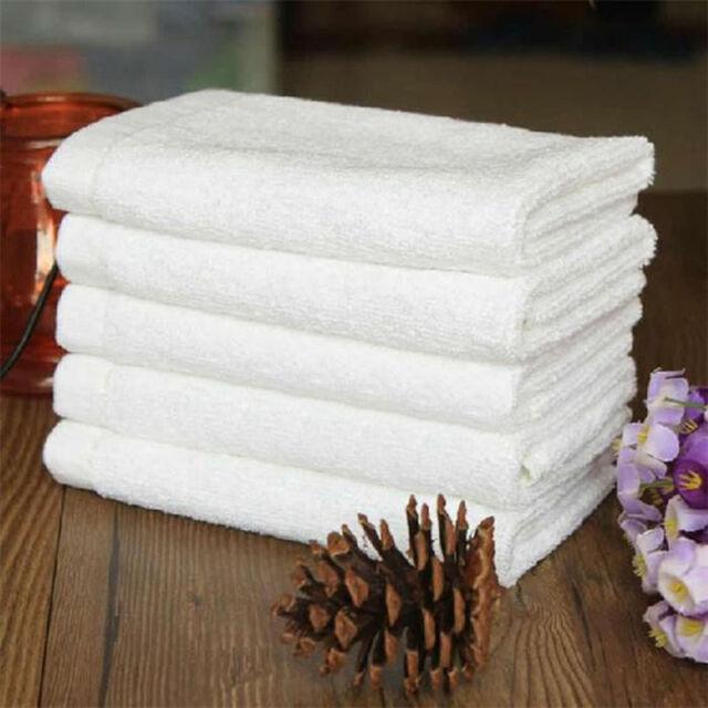 New Cotton Hand Bath Towel Terry Salon Spa Hotel Beach  White 1 PCS