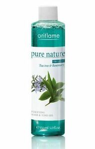 Oriflame-PurE-Nature-Organic-Tea-Tree-and-Rose-Mary-Purifing-Wash-amp-Tone-Gel