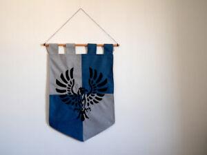 Harry Potter Ravenclaw banner hogwarts house magic home decor gift geek raven