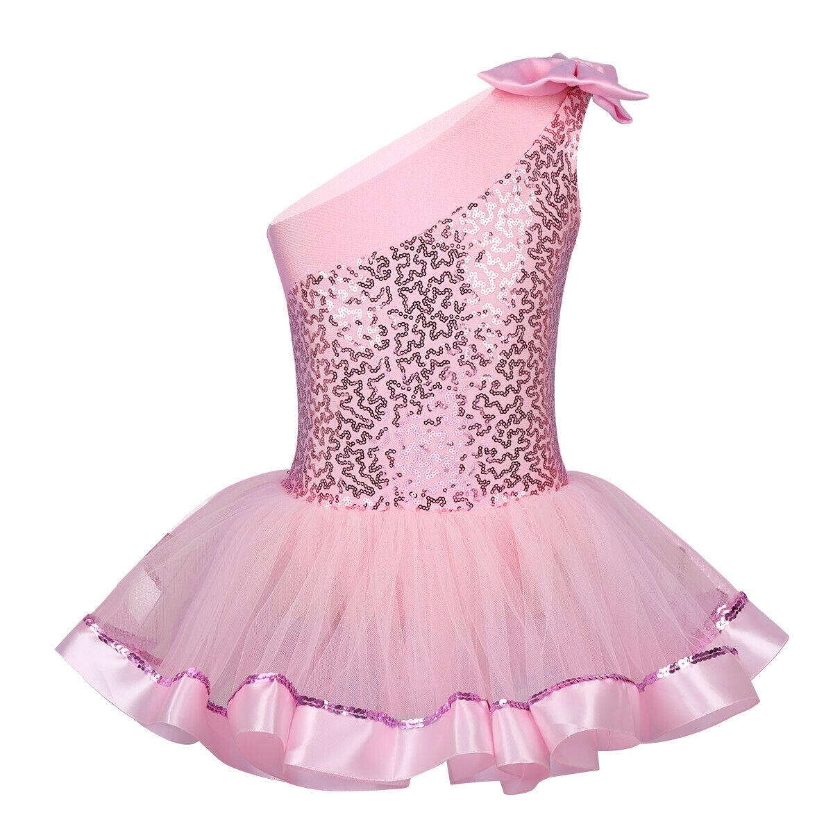 Child Girls Ballet Dancewears Leotard Tutu Dress Outfits Kid Skirt Costumes Suit