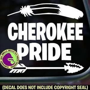"11/"" CHEROKEE PRIDE vinyl decal car window laptop sticker native american"