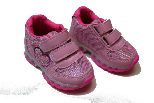 Kinderschuhe Kinder Schuhe Jungen Mädchen sport LED Hallen Klettschuhe Süß Süße