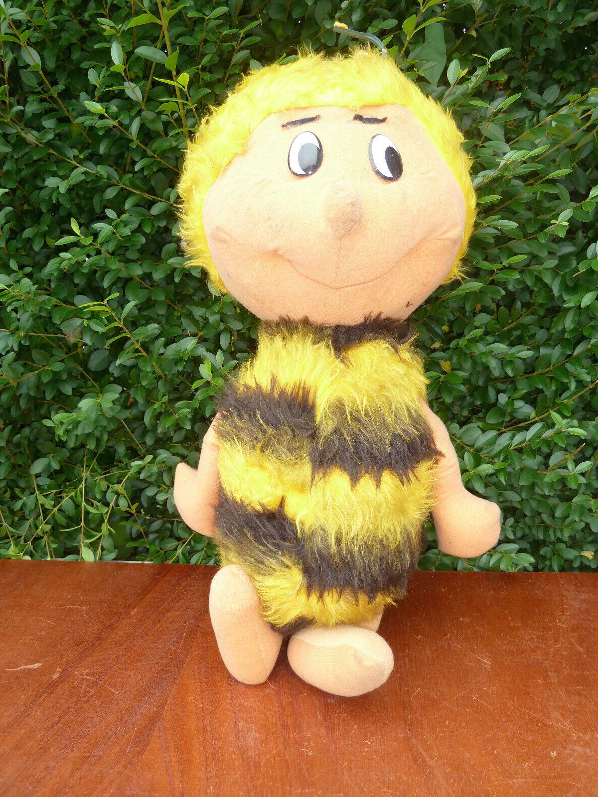 Gran peluche MAYA la abeja antiguo juguete, vintage