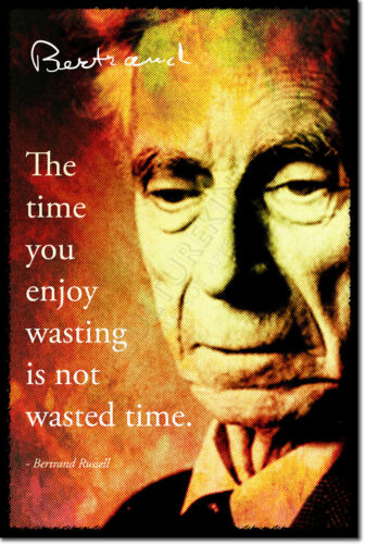 Bertrand Russell Arte Foto impresión Poster Regalo Filosofía citar
