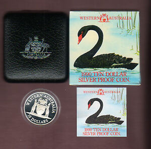 1990-RAM-10-Silver-Proof-Australian-State-Series-Western-Australia