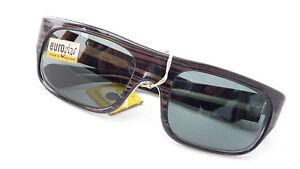 Sonnenbrille-60er-Jahre-schwarz-braun-Echtglas-Handarbeit-edel-Herren-size-L