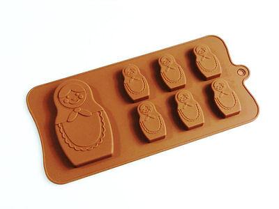 Flexible Mold Russian Matryoshka  Doll Resin Or Chocolate Mould