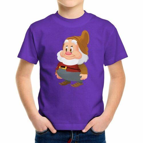 Snow White Seven Dwarfs Happy Disney Cute Kids Boys Teens Unisex Tee T-Shirt Top