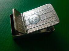 Edward Smith Combination Vesta Snuff Box Antique English Sterling Silver 1862