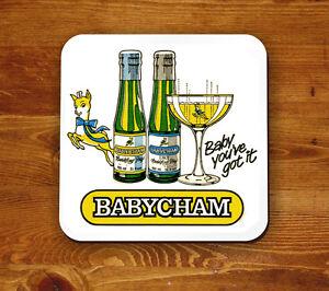 Babycham-retro-039-Beermat-039-Baby-you-039-ve-got-it
