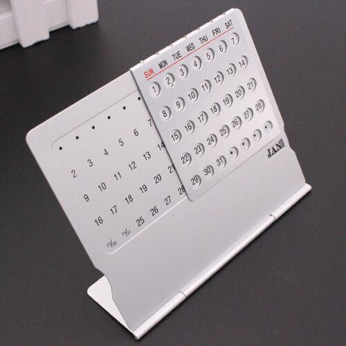 Einstellbare Desktop Super ewiger Kalender Super 100 Jahre Metall Tischkalender