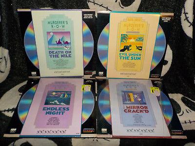 Agatha Christie Murderer's Row Restposten Laserdisc Nil / Sun / Crack 'd / Night MöChten Sie Einheimische Chinesische Produkte Kaufen?