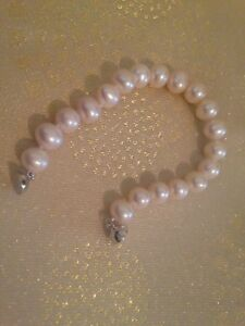 Freshwater-Cultured-Pearl-Bracelet-8-5-9-5mm-925-Silver-magnetic-clasp