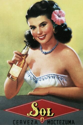 1950s Sol Cerveza Moctezuma Beer Poster 13 x 19 GIclee Print