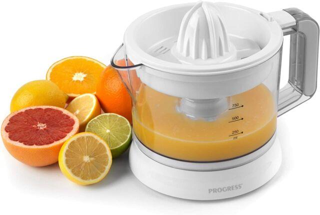 Progress Electric Automatic Citrus Press Juicer 750ml, Adjustable Pulp Control
