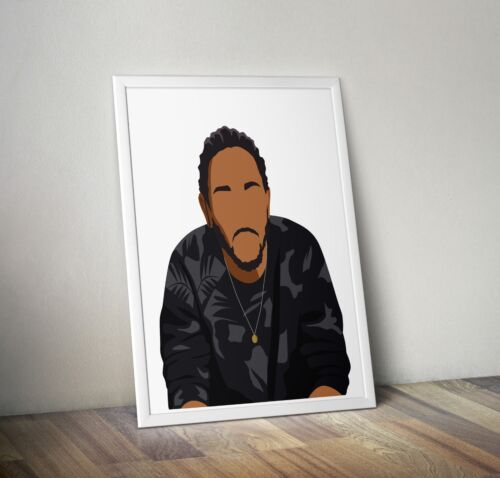 Wall Art Home Decor Poster Print American Rapper Kendrick Lamar Gift