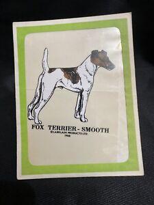 NOS Vtg 1968 Fox Terrier - Smooth Dog Decal Larklin Denver ...
